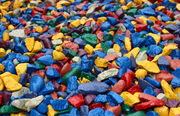 Rangli toshlar. Цветные камни для ландшафтного дизайна.